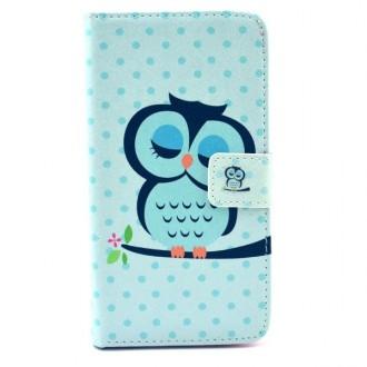 Crazy Kase - Etui Galaxy S6 Motif Chouette Bleue