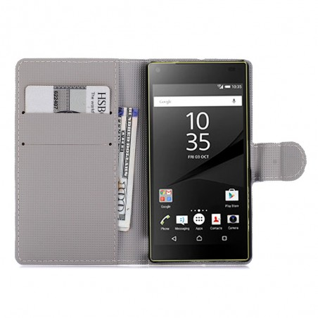 Crazy Kase - Etui Sony Xperia Z5 Compact Motif Papillons et Fleurs