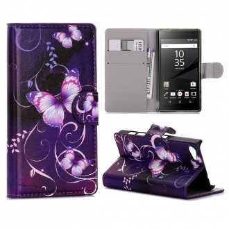 Crazy Kase - Etui Sony Xperia Z5 Compact Motif Papillons Violets