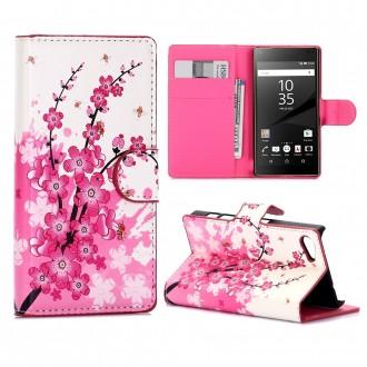 Crazy Kase - Etui Sony Xperia Z5 Compact Motif Fleurs Japonaises