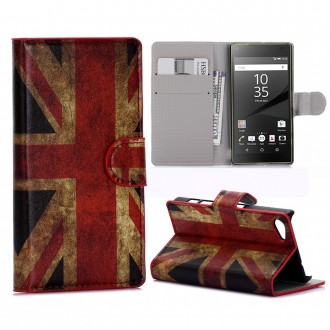 Crazy Kase - Etui Sony Xperia Z5 Compact Motif Drapeau UK