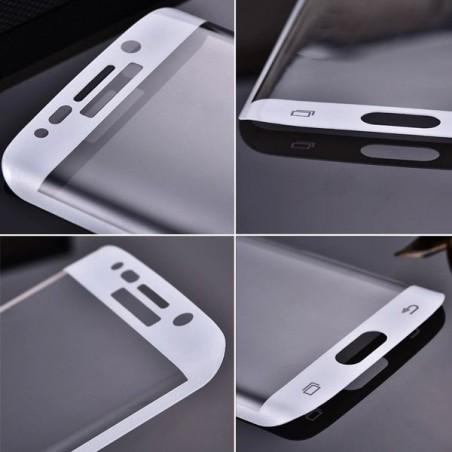 Film Galaxy S6 Edge protection écran verre trempé incurvé contour Noir