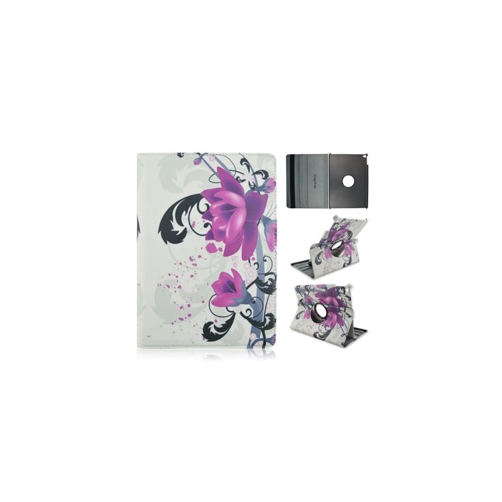 Crazy Kase - Etui iPad Air 2 Rotatif 360° motif Fleur de Lotus