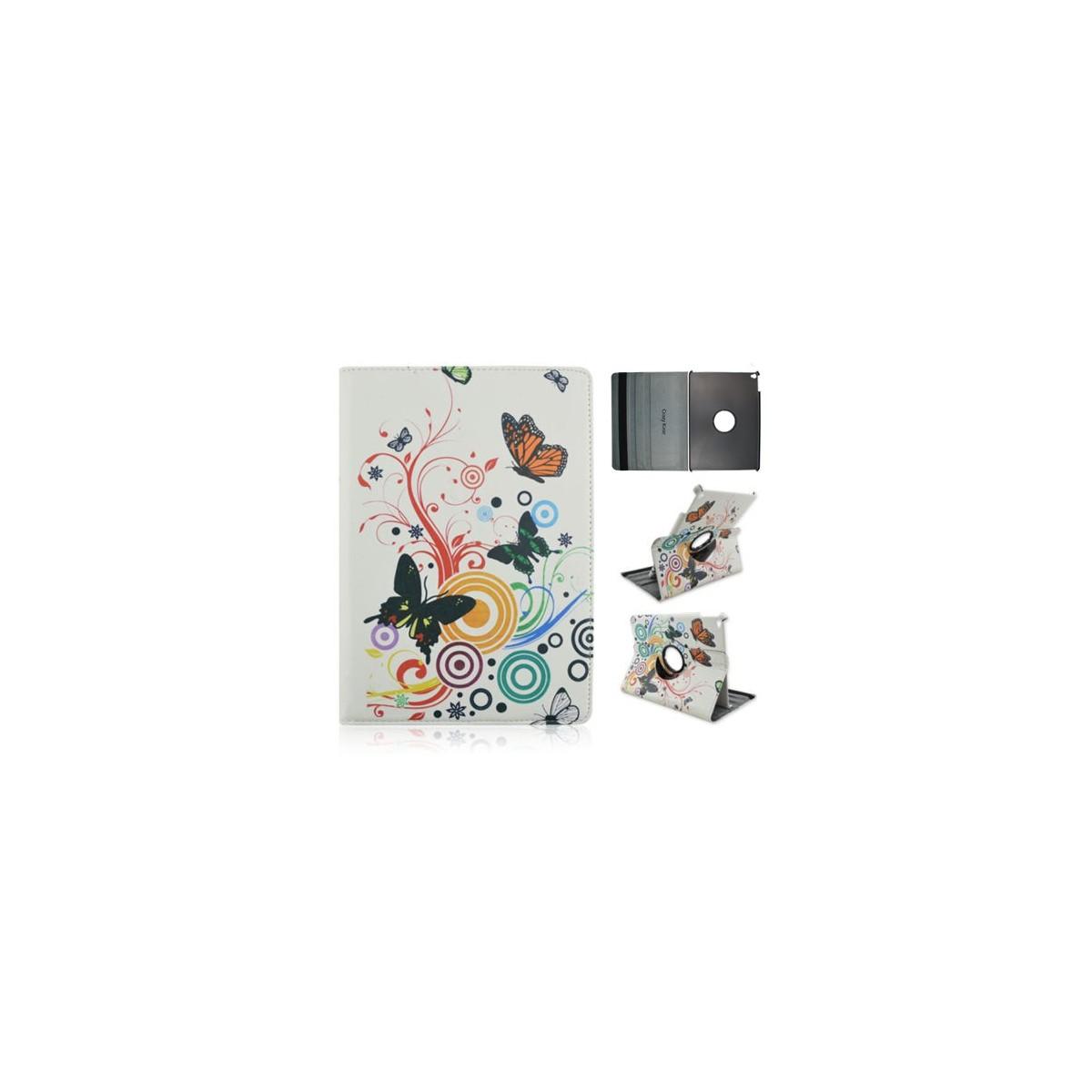 Crazy Kase - Etui iPad Air 2 Rotatif 360° motif Papillons et Cercles