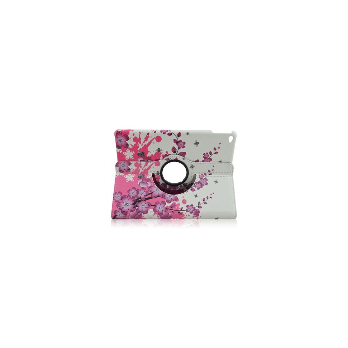 Crazy Kase - Etui iPad Air 2 Rotatif 360° motif Fleurs Japonaises
