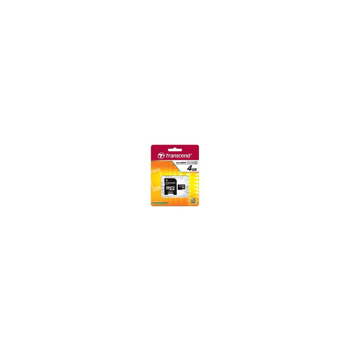 Carte Micro SDHC 4GB Class4 + Adaptateur - Transcend