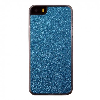 Coque iPhone 5 / 5s à paillettes bleues