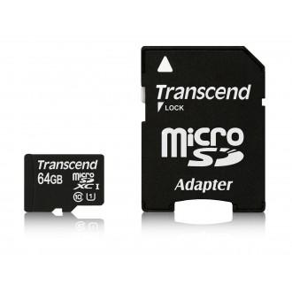 Carte Micro SDXC 64GB UHS-1 Class10 - Transcend