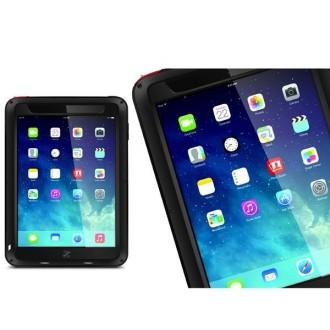 Coque iPad Mini 1 / 2 / 3 Etanche Antichocs Aluminium Noire - LOVE MEI