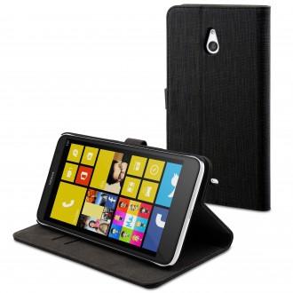 Etui Nokia Lumia 1320 Portefeuille Noir - Muvit