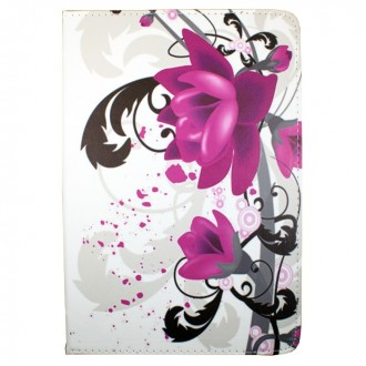 Crazy Kase - Etui tablette universel 10 pouces rotatif 360° motif Fleur de Lotus
