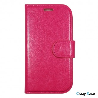 Crazy Kase - Etui Galaxy Ace 4 Uni Rose