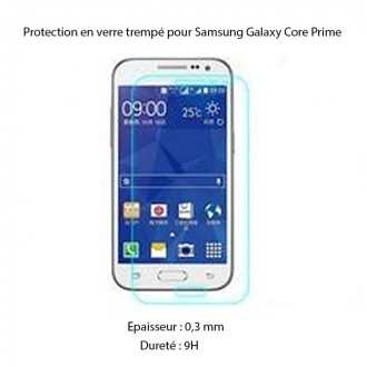 Film Galaxy Core Prime protection écran verre trempé