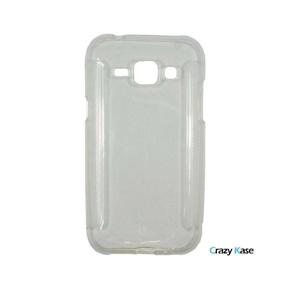 Crazy Kase - Coque Galaxy J1 Transparent Silicone