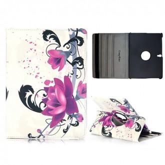 Etui Galaxy Tab S 10.5 Rotatif 360° Fleur de Lotus violette - Crazy Kase