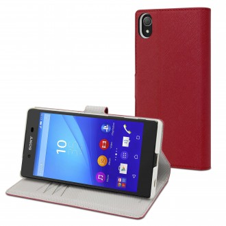 Etui Sony Xperia Z5 Portecartes Rouge - Muvit
