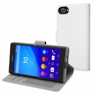 Etui Sony Xperia Z5 Compact Portecartes Blanc - Muvit