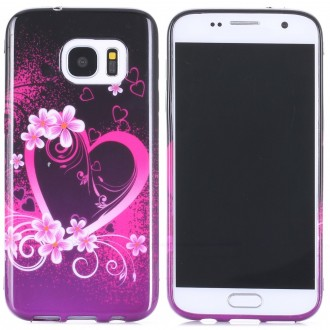 Coque Galaxy S7 motif Coeur et fleurs - Crazy Kase
