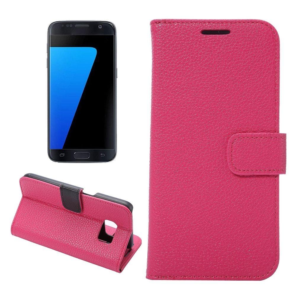 Etui Galaxy S7 Portecarte Rose - Crazy Kase