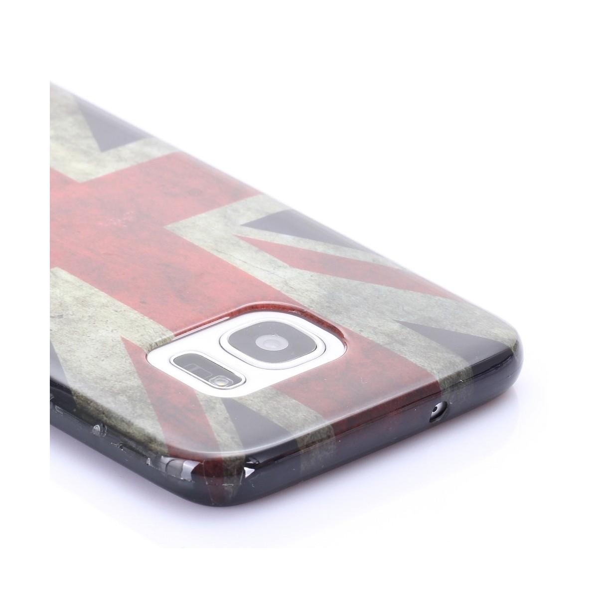 Coque Galaxy S7 Edge motif Drapeau UK - Crazy Kase