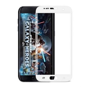 Film Galaxy S7 Edge protection écran verre trempé incurvé Contour Blanc