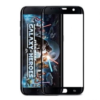 Film Galaxy S7 Edge protection écran verre trempé incurvé Contour Noir