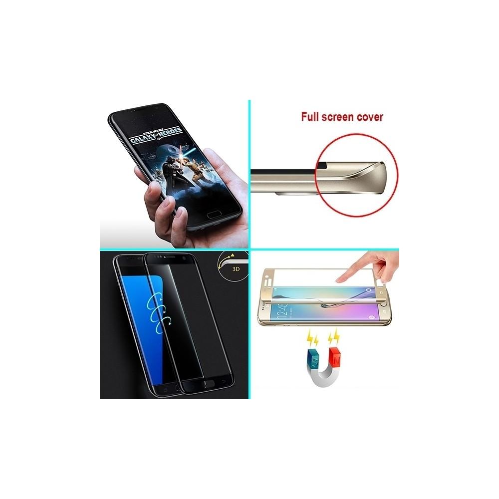 Film Galaxy S7 Edge protection écran verre trempé incurvé pose anti bulle