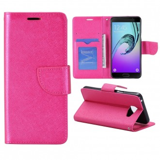 Etui Galaxy A5 (2016) Porte cartes Rose - Crazy Kase