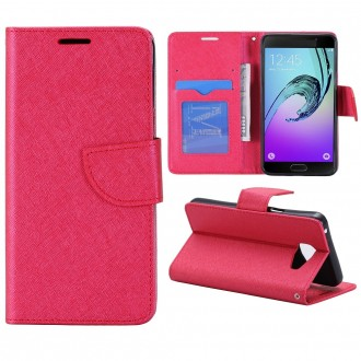 Etui Galaxy A5 (2016) Porte cartes Rouge - Crazy Kase