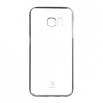 Coque Galaxy S7 Transparente contour Argenté - Baseus