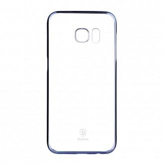 Coque Galaxy S7 Transparente contour Bleu - Baseus