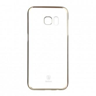 Coque Galaxy S7 Transparente contour Doré - Baseus
