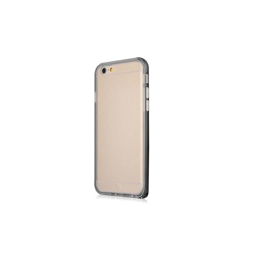 Coque iPhone 6 / 6s Transparente avec bumper noir - Baseus