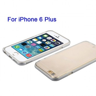 Coque iPhone 6 Plus / 6s Plus Transparente avec bumper argenté - Baseus