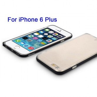 Coque iPhone 6 Plus / 6s Plus Transparente contour Noir - Baseus