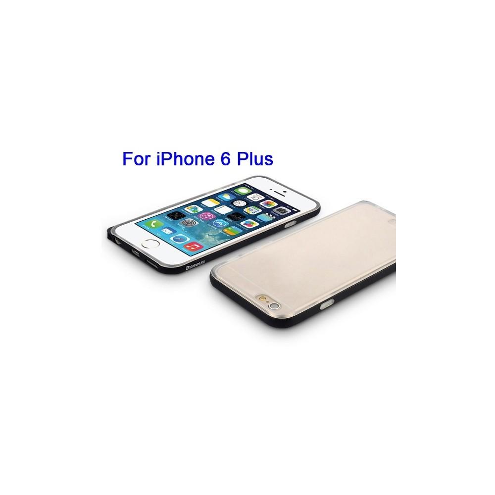 Coque iPhone 6 Plus / 6s Plus Transparente contour Noir - Baseus