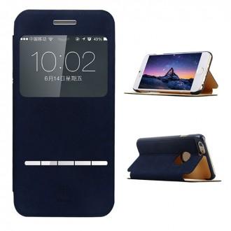Etui iPhone 6 / 6s avec fenêtre de visualisation Bleu - Baseus