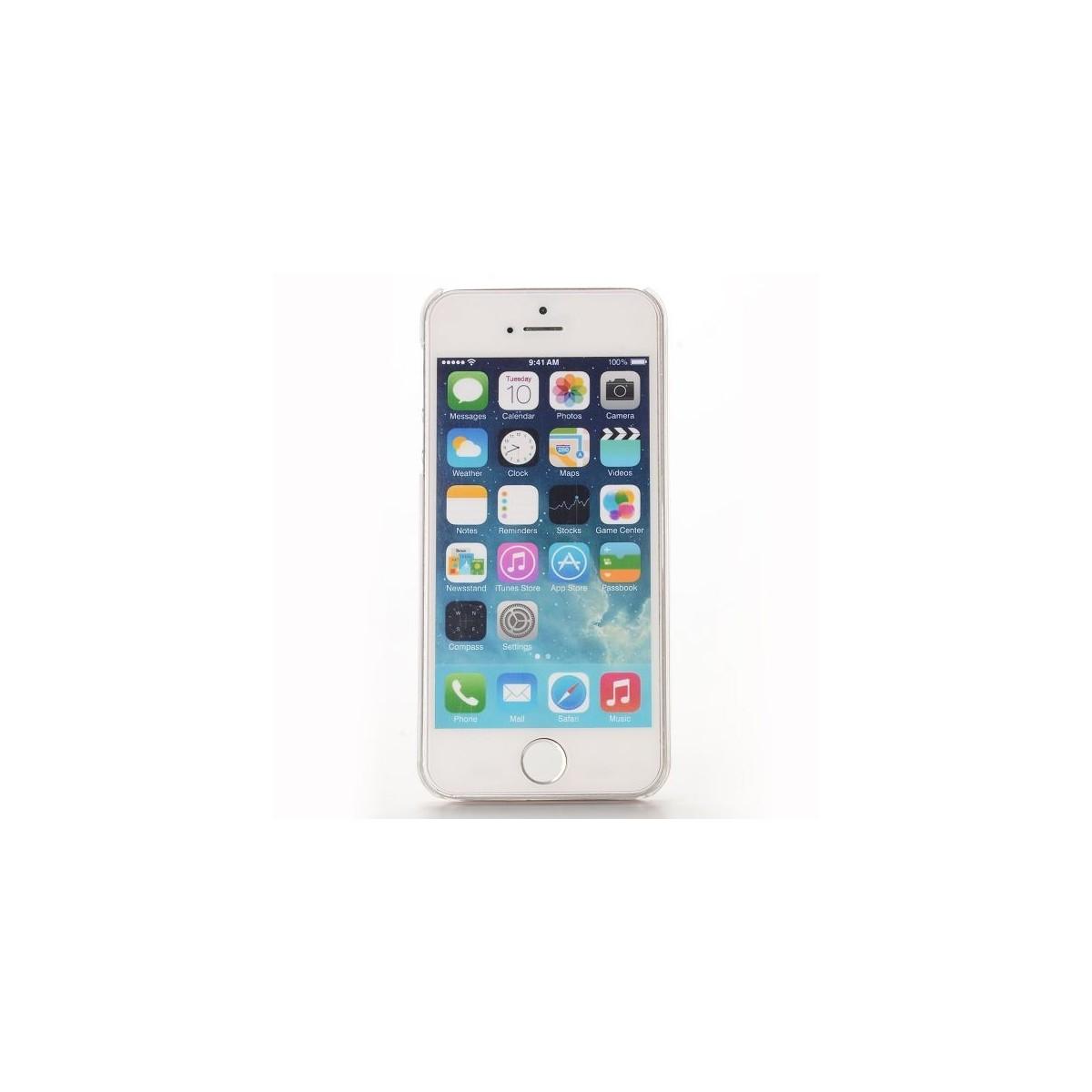 Coque iPhone SE / 5S / 5 à Paillettes Violettes et Etoiles Argentées - Crazy Kase