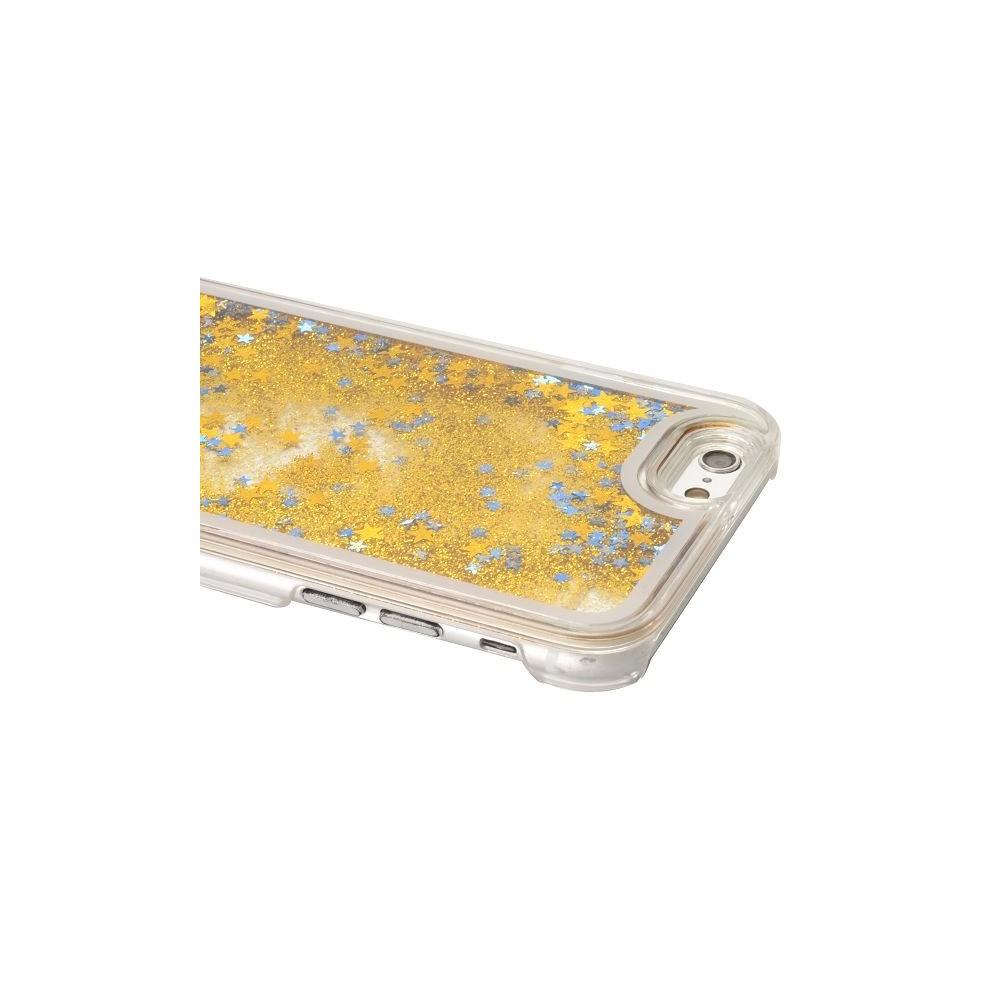Coque iPhone 6 / 6S à Paillettes Dorées et Etoiles Bleues - Crazy Kase