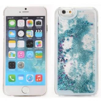 Coque iPhone 6 / 6S à Paillettes Bleues et Etoiles Roses- Crazy Kase