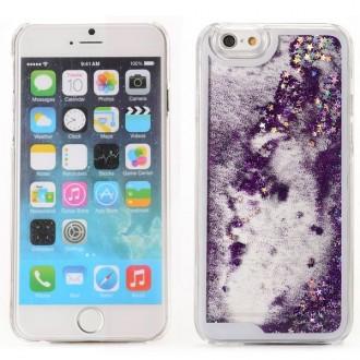 Coque iPhone 6 / 6S à Paillettes Violettes et Etoiles Argentées - Crazy Kase